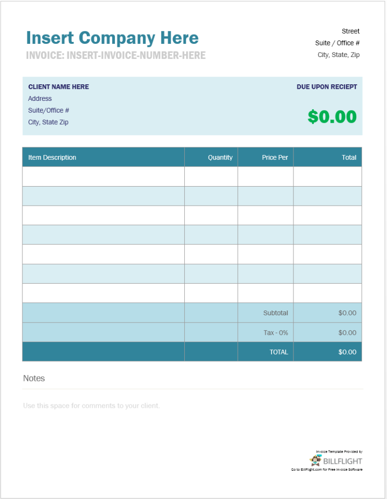 Free Invoice Maker That Allows You To Create An Invoice From - Free invoice system